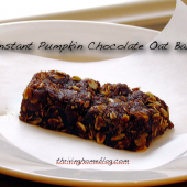 Instant Pumpkin Chocolate Oat Bars Recipe