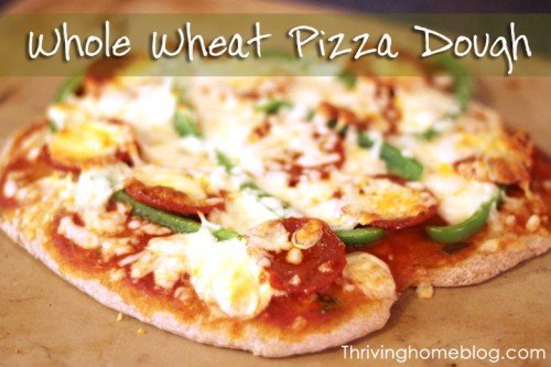 whole wheat pizza dough freezer meal thriving home