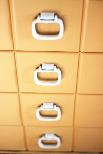 handles on orange dresser