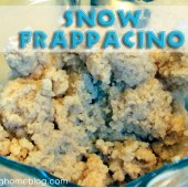 Snow Ice Cream Recipe (or Snow Frappacino!)