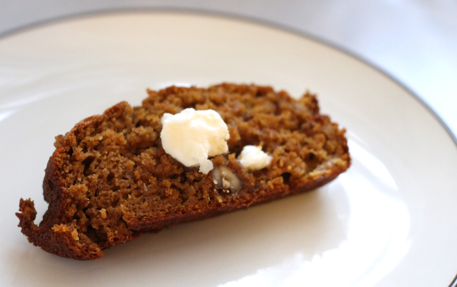 Made with whole grain flour, a touch of flax seed, vitamin rich pumpkin, walnuts and banana, this bread is a hit with all ages! It's a tasty bread that can be served as breakfast or as an afternoon snack.