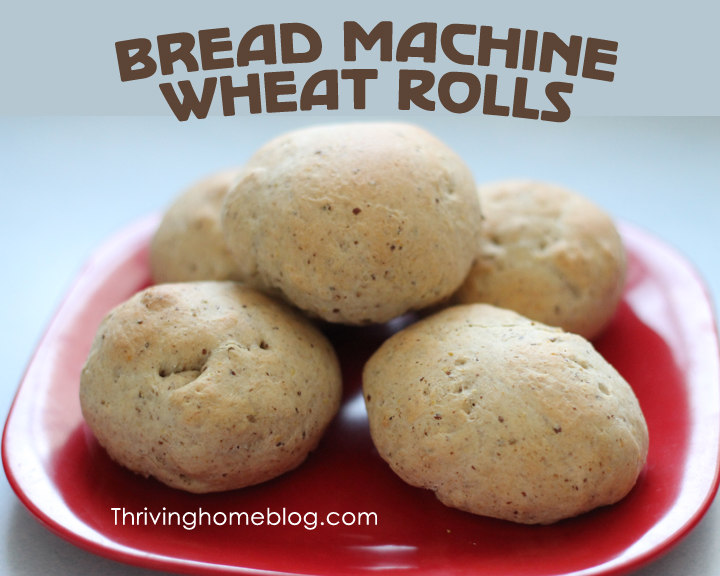 bread machine wheat rolls