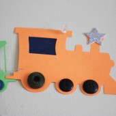 DIY Nursery Decor: Trains!