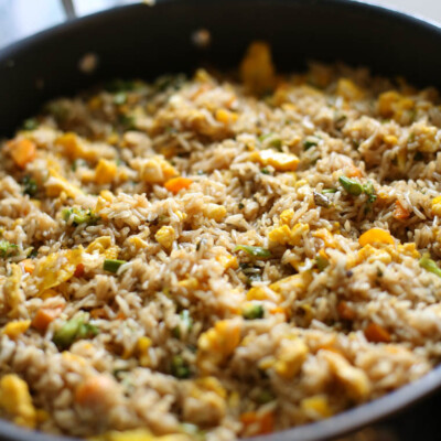 Fried Rice with Sweet Soy Sauce {Freezer Meal}