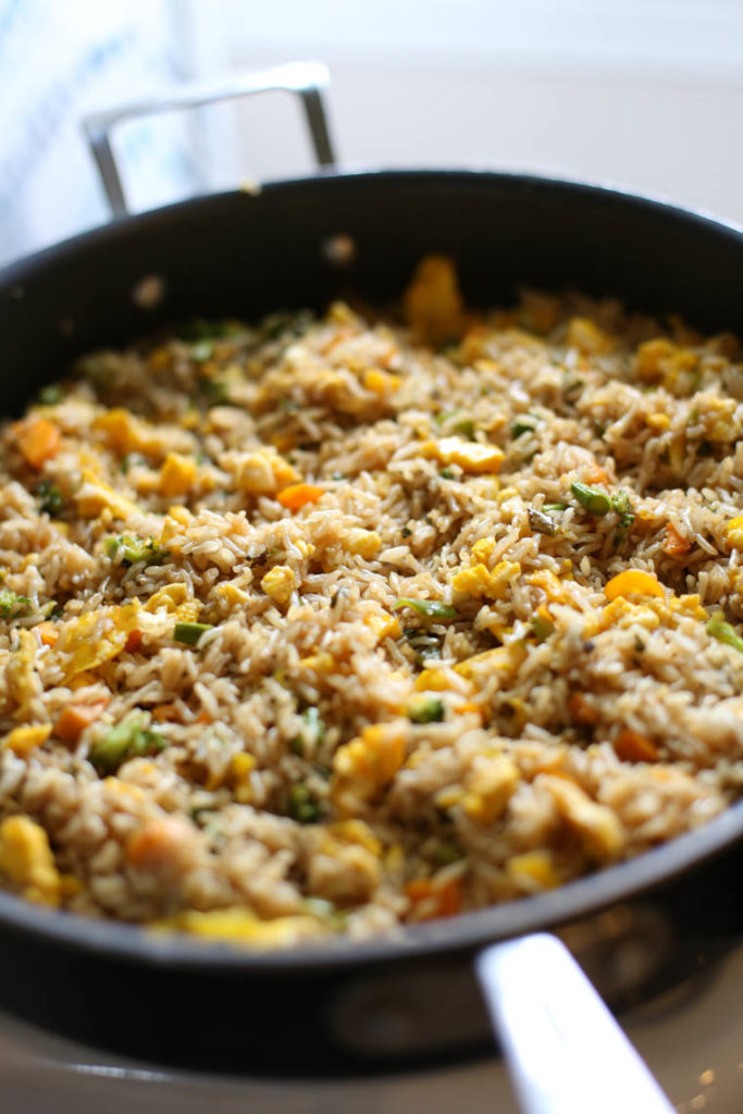 This fried rice with sweet soy sauce recipe is AMAZING. It's packed with nutritious ingredients and serves as a delicious side dish. It's also surprisingly freezer friendly!
