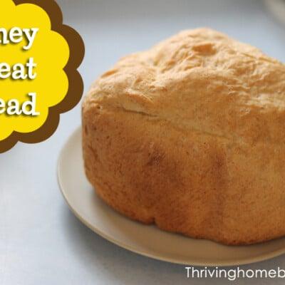 Bread machine honey wheat bread recipe