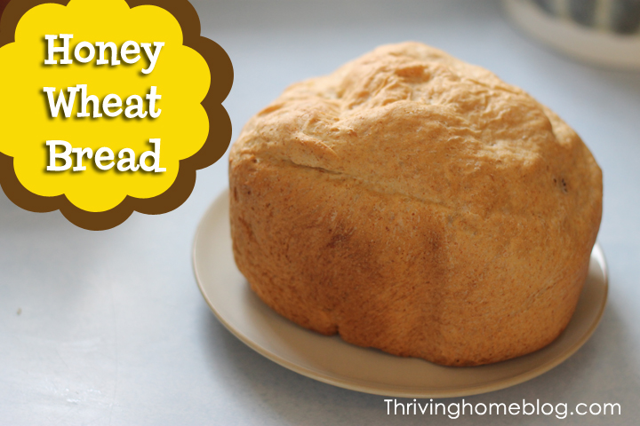 Honey wheat bread made in the bread machine will become a staple in your house. With just the right amount of sweetness in every bite, you'll love this bread!