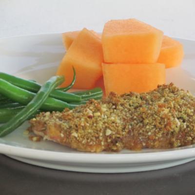 Baked Dijon Wild Salmon--Perfect Salty, Sweet, Crunchy Combo! {Freezer Meal}