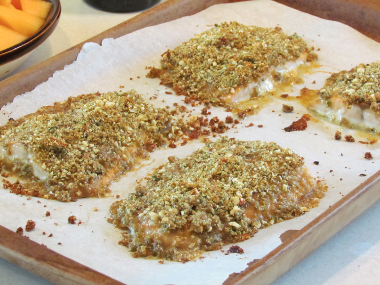 This baked dijon salmon recipe is a nice combination of salty, sweet ...