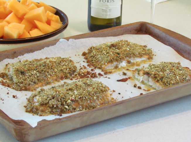 This baked dijon salmon recipe is a nice combination of salty, sweet, and crunchy...which definitely minimizes the sometimes fishy taste of salmon.