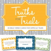 Truth for Trials: NEW Printable Verse Cards on Sale Now
