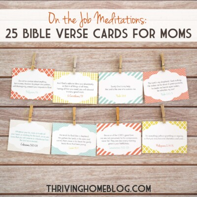 encouraging Bible verse cards just for moms