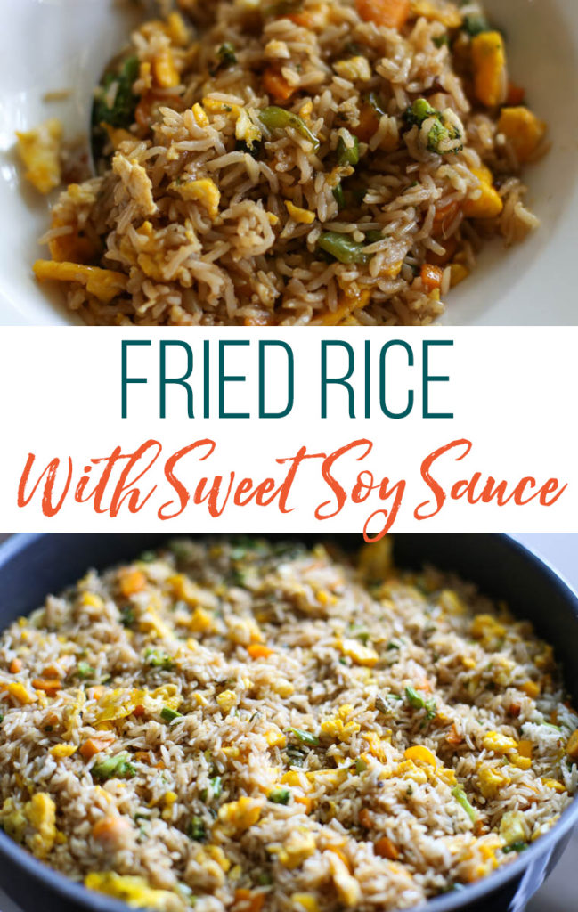 This fried rice with sweet soy sauce recipe is AMAZING.