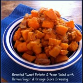Roasted Sweet Potato & Pecan Salad with Brown Sugar & Orange Juice Dressing