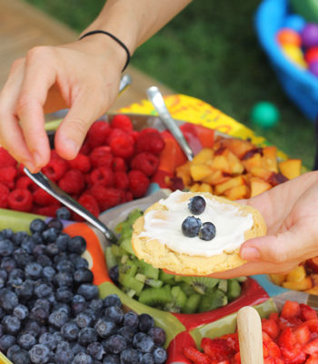 Mini Fruit Pizzas with Cream Cheese Frosting
