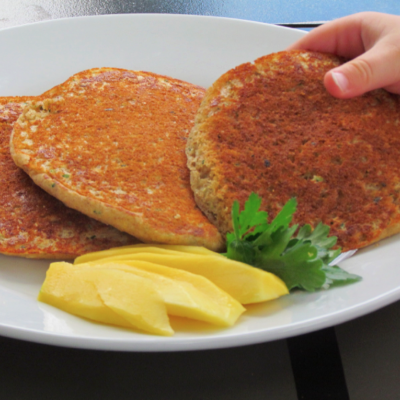 Easy Whole Grain Zucchini Pancakes {Freezer Meal}