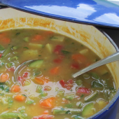 Garden Vegetable and Lentil Soup Recipe