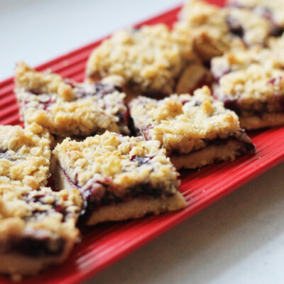 Blueberry Oat Bars {Freezer Meal}