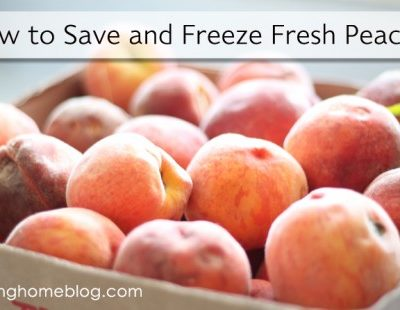How to Prepare, Freeze and Store Fresh Peaches