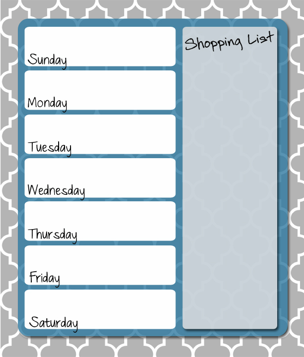 Free printable weekly menu planner thriving home for Home plan weekly