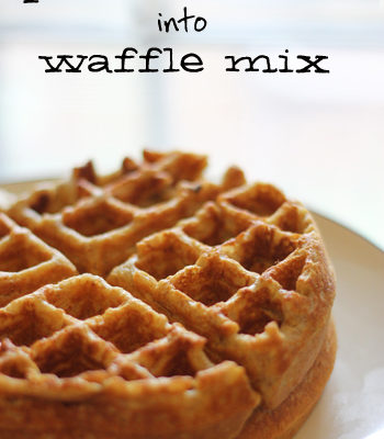 How to Turn Pancake Mix Into Waffle Mix