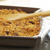 coconutty granola with dried fruit