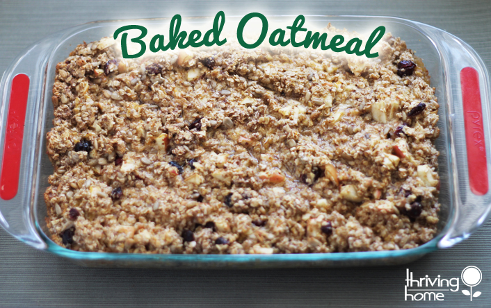 Baked oatmeal is a crowd favorite!  Enjoy this updated version with less sugar and no vegetable oil.
