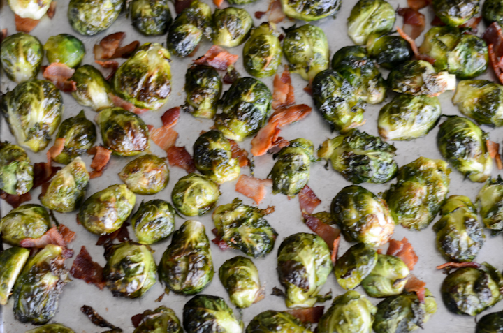 Roasted Brussels on a sheet pan
