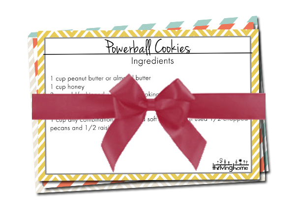 recipe card package