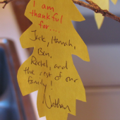 The Thankful Tree: A Thanksgiving Craft and Centerpiece