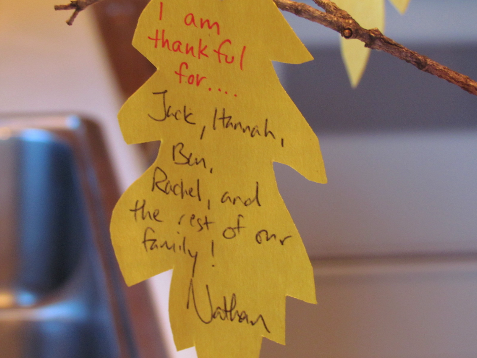 Thankful tree Thanksgiving activity