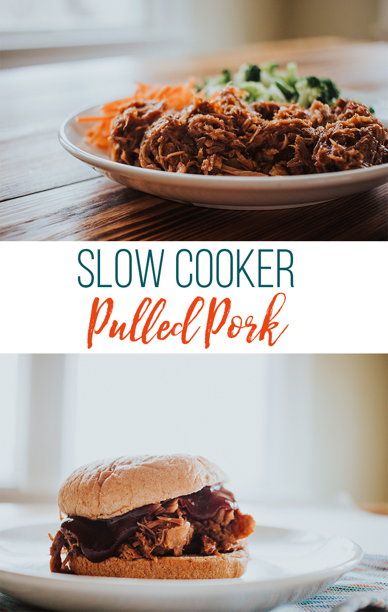 Slow Cooker Shredded Pork on a plate