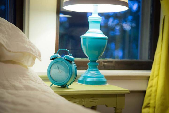 lamp and clock