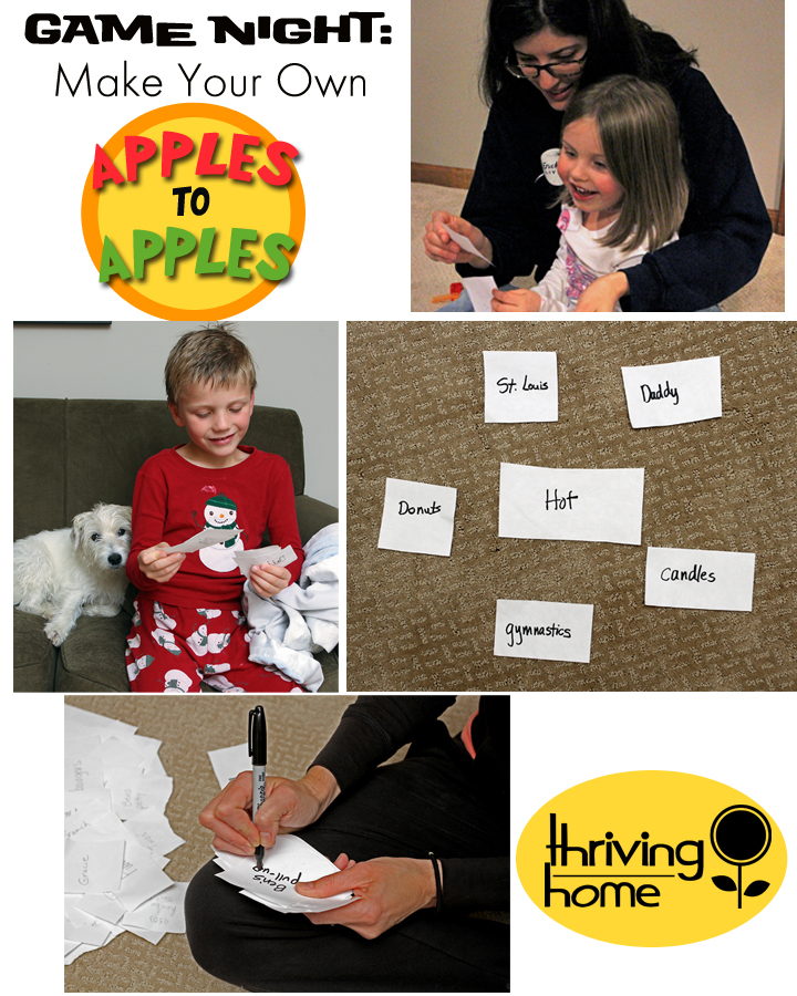 "How to Make Your Own ""Apples to Apples"" Game"