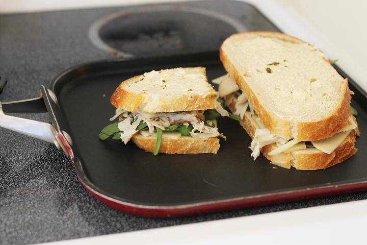 grilling sandwich