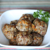 meatballs with sneaky nutrition--makes a great freezer meal!