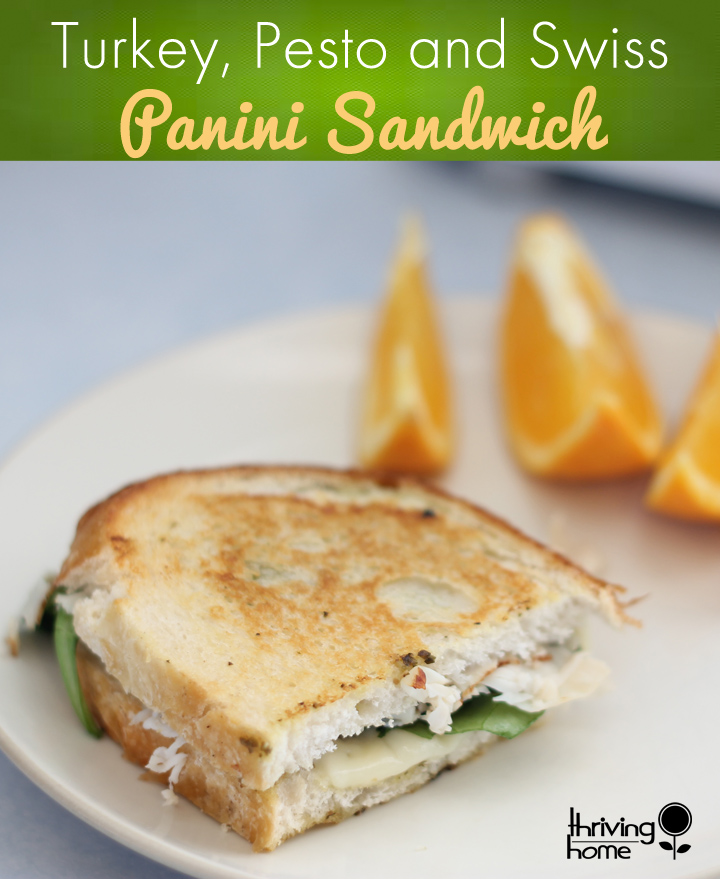 Lunch favorite turkey pesto paninis recipe thriving home who needs a boring sandwich for lunch just a few key ingredients turkey forumfinder Choice Image