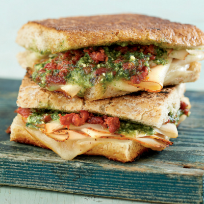 Turkey Pesto Paninis {Freezer Meal}