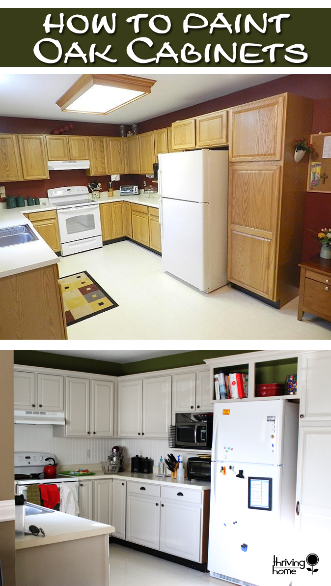 Painting oak cabinets thriving home - How to glaze kitchen cabinets that are painted ...