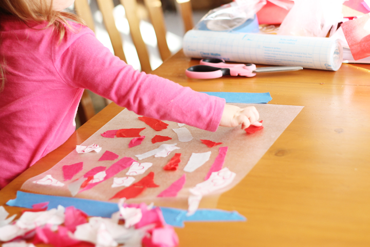 toddler crafting valentine