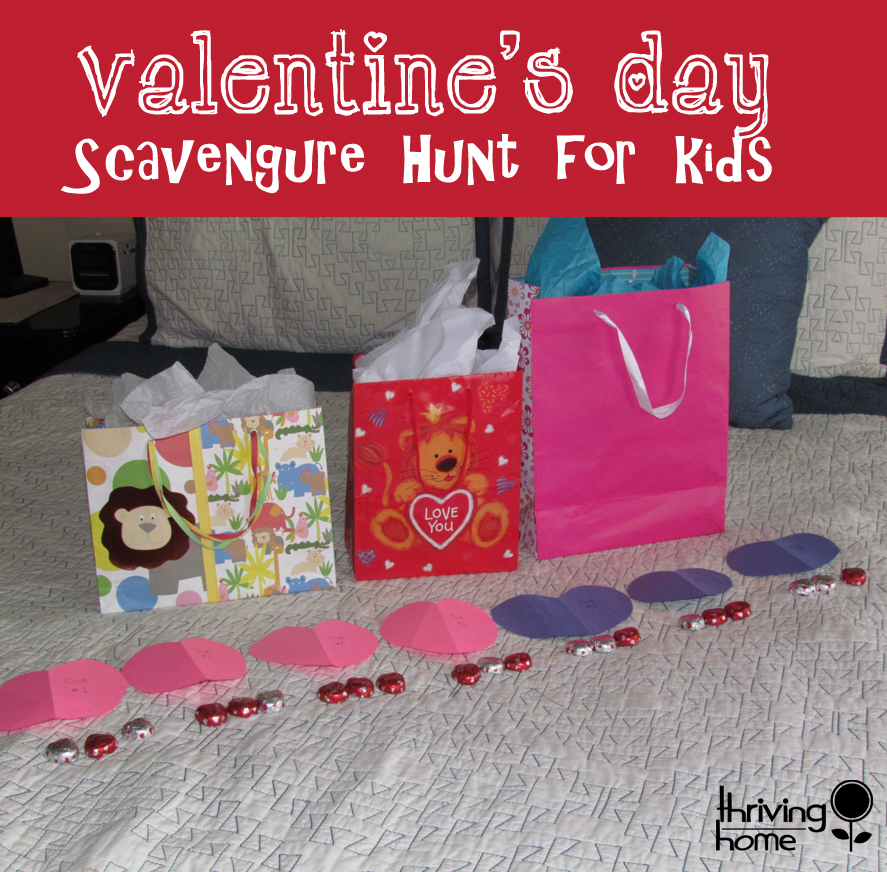 valentine's day scavenger hunt for kids