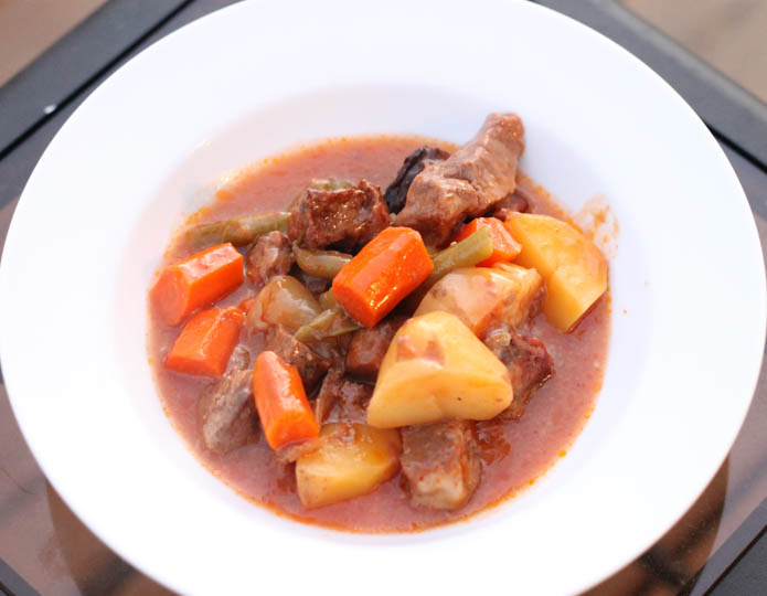 No Peek Stew - This takes minutes to put together and then slow cooks in the oven or crockpot. Serve up with some crusty bread and a side salad for a homestyle dinner.