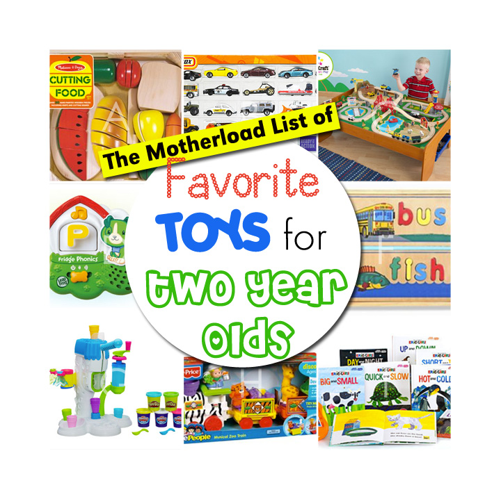 An awesome list of 2-year-old toy ideas!