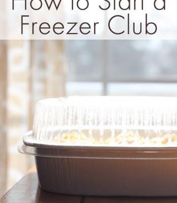how to start a freezer club