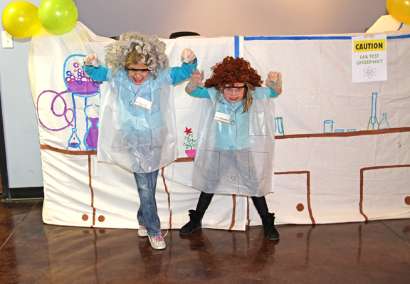 Create a laboratory photo booth for the perfect Science Birthday Party!