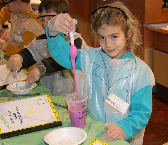 A simple recipe for making slime at home, school or for a Science Birthday Party.
