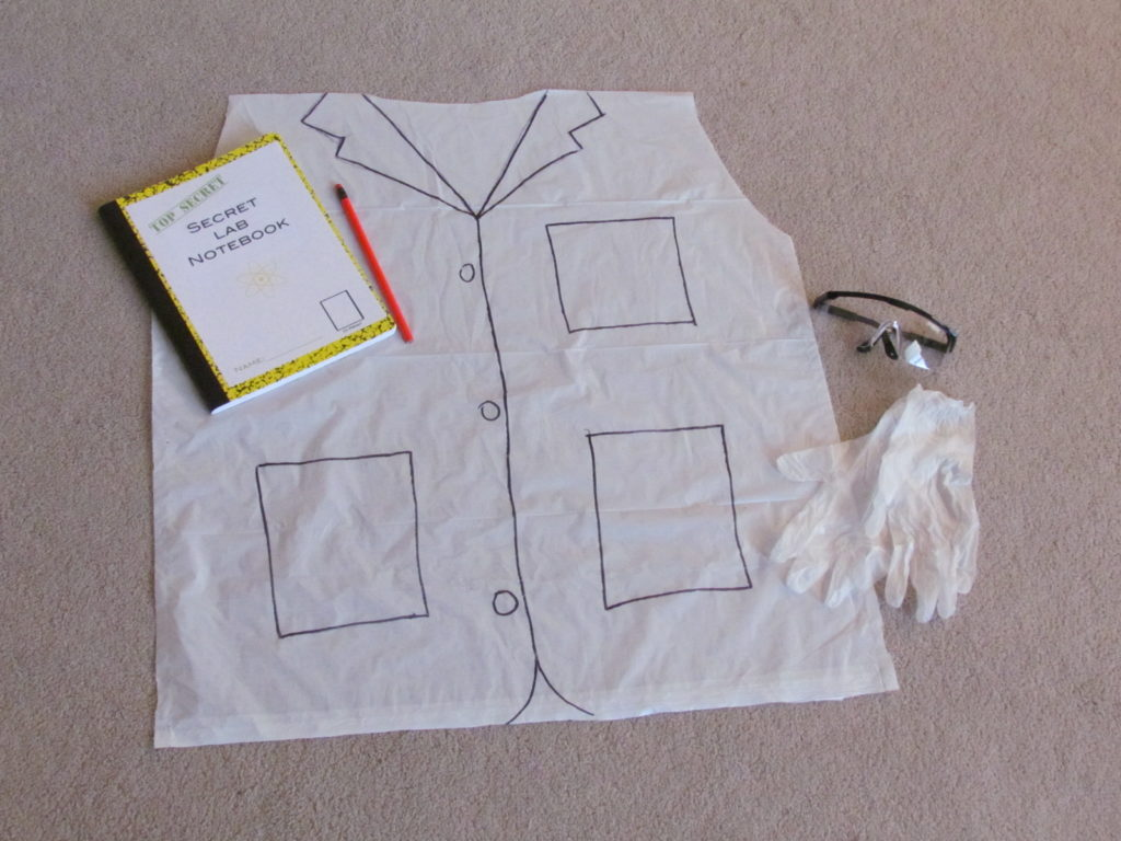 Make a cheap and easy Scientist Kit for each child at a fun Science Birthday Party to use during experiments and as a take-home gift.