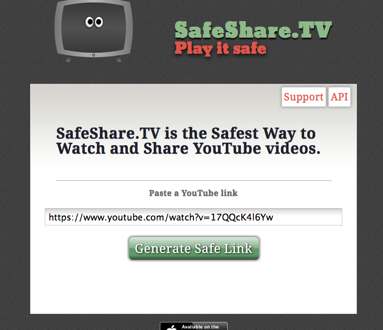 safe way to show youtube videos