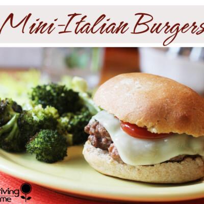 Mini Italian Burgers {Freezer Meal}