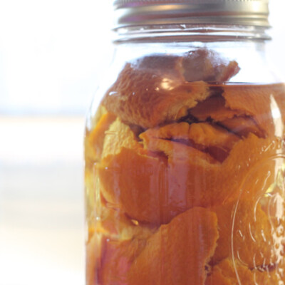 All Natural Orange Vinegar and Orange Peel Household Cleaner